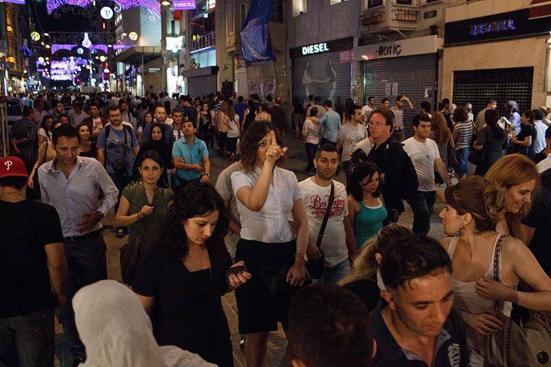 Tony looks for decisive moments on the crowded Istiklal Caddesi.