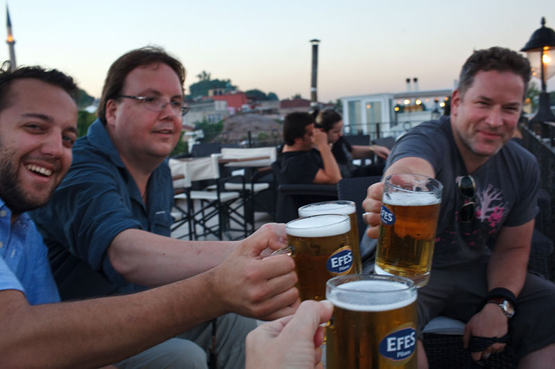First day in Istanbul. Getting to know each other in a rooftop restaurant in Sultanahmet.